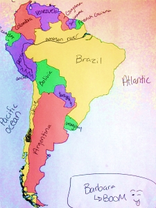 South America by Barbie