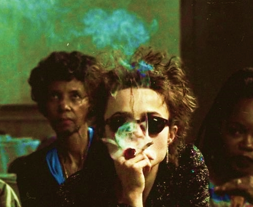 image from Fight Club... she did not have testicular cancer...