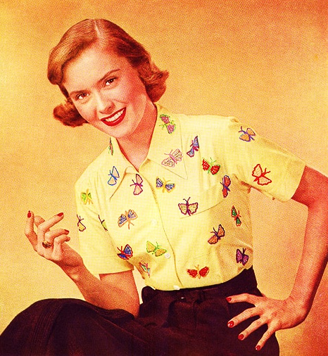 butterflies in crochet 1951