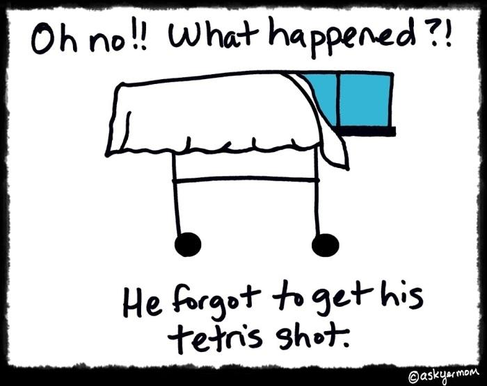 tetris shot